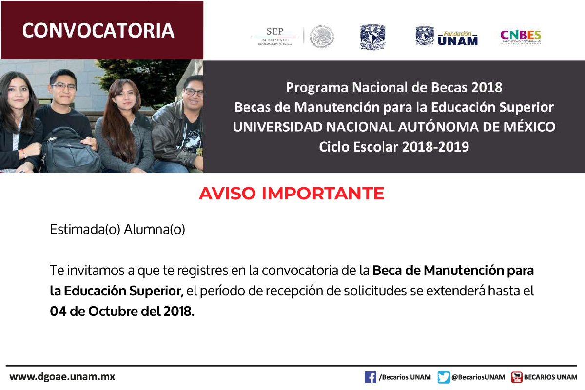 Beca manutención requisitos